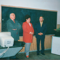 Офіційні гості та мер м.Сігет проф. Євгенія Годжа — на Днях школи